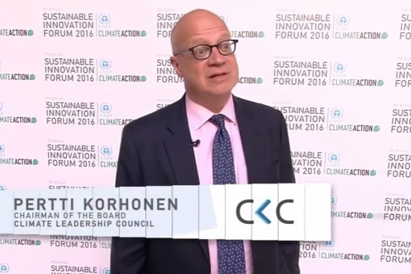 Interview with Pertti Korhonen, Chairman of the Board, Climate Leadership Council at SIF16